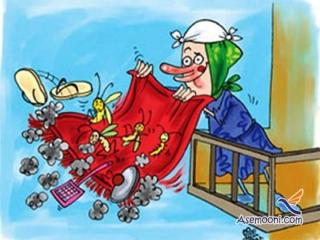 کاریکاتور خانه تکانی عید