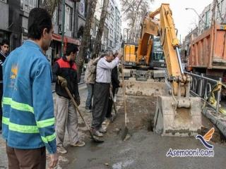 نشست زمین در خیابان مصطفی خمینی و تمهیدات پلیس راهور