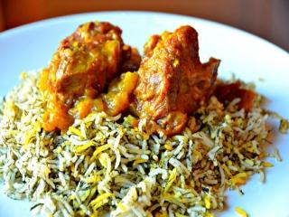 چلو گوشت ایرانی