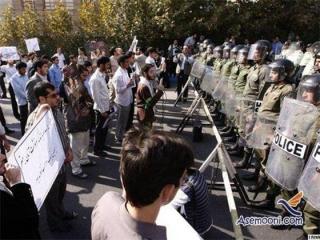 تجمع اعتراضی مردم مقابل سفارت عربستان در تهران