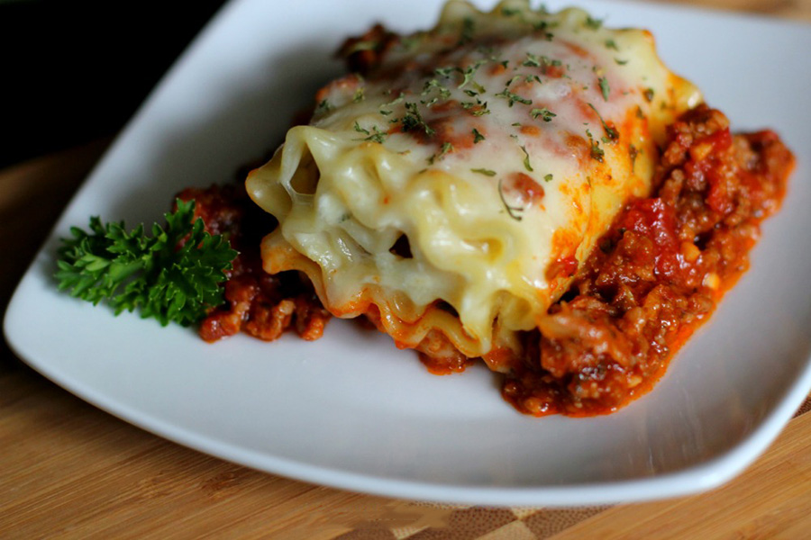 لازانیای لقمه ای-lasagna roll