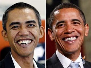 شباهت بسیار عجیب و غیر قابل باور یک مرد اندونزی به اوباما