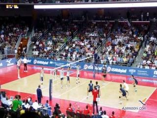 شکست تیم ملی والیبال ایران از آمریکا در لس آنجلس