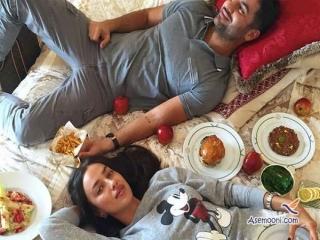 سوپر مدل جذاب روسی (همسر سابق رونالدو) با یک ایرانی نامزد کرد