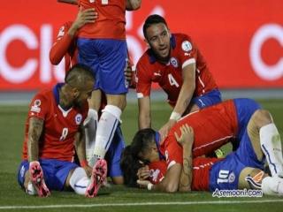 آخرین اخبار کوپا امریکا 2015 مرحله یک چهارم نهایی (پیروزی دقایق پایانی شیلی مقابل اروگوئه)
