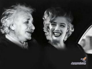گفتگو جالب بین اینشتین و مریلین مونرو (طنز)