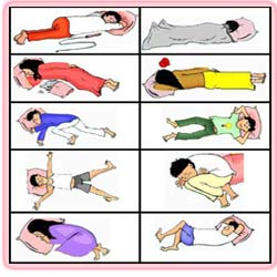 طرز خوابیدن و شخصیت