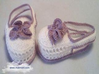 عکس کفش بافتنی بچگانه