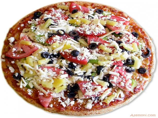 پیتزا ژامبون و قارچ