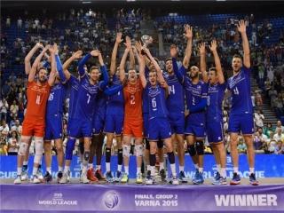 فرانسه قهرمانی دسته دو لیگ جهانی والیبال را از آن خود کرد