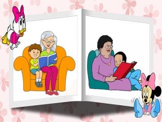 شعر کودکانه، مادر بزرگ قصه گو