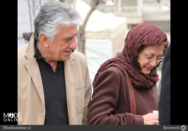 رضا کیانیان و همسرش