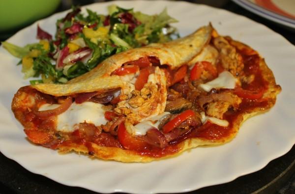 املت مرغ-chicken omelette