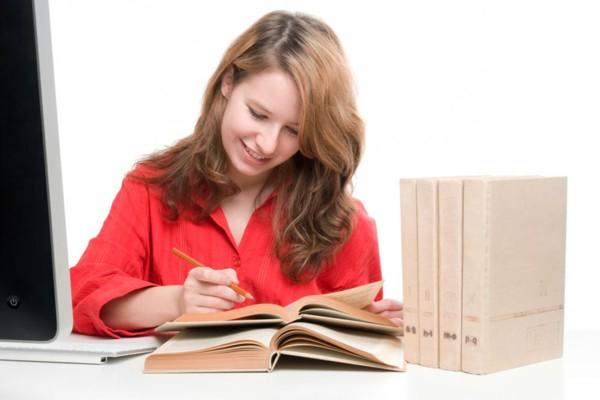 Ilustrasi penulis wanita