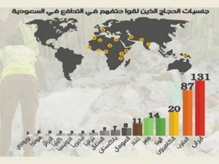حجاج ایرانی 3 درصد، کشته های ایرانی 20 درصد! + نمودار