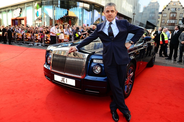 Rowan Atkinson arrives at the premiere of new film Johnny English Reborn at the Empire cinema in London. PRESS ASSOCIATION Photo. Picture date: Sunday October 2, 2011. See PA story SHOWBIZ English. Photo credit should read: Ian West/PA Wire