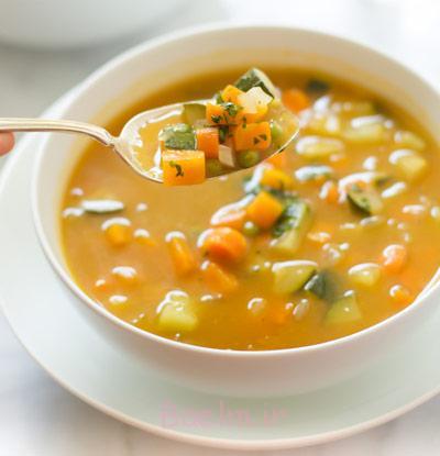 سوپ کرفس و هویج
