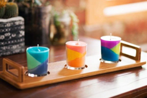 Making colored candles