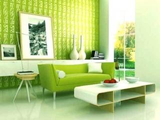 طراحی داخلی منزل به رنگ سبز