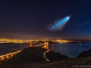 تصویر روز نجومی ناسا : شبح موشک بر فراز سانفرانسیسکو