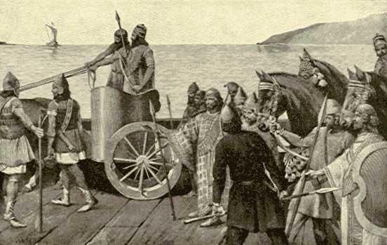 نگاره داریوش سوم در زمان حمله اسکندر