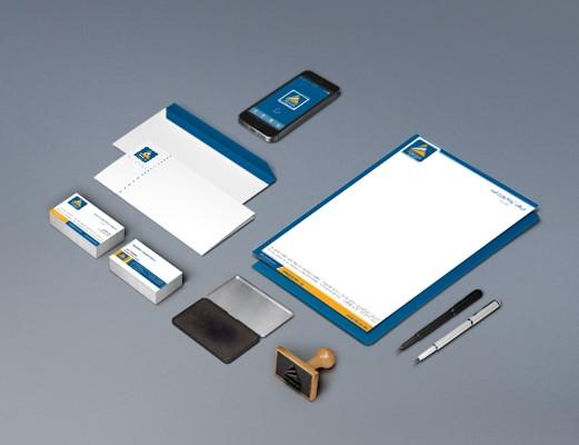 letterhead package design Apadana