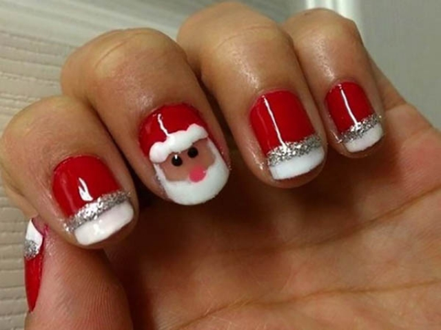 طراحی ناخن مدل کریسمس