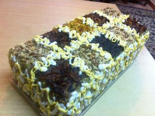 یک شیوه جدید در ارائه کشک و بادمجان : کیک کشک و بادمجان