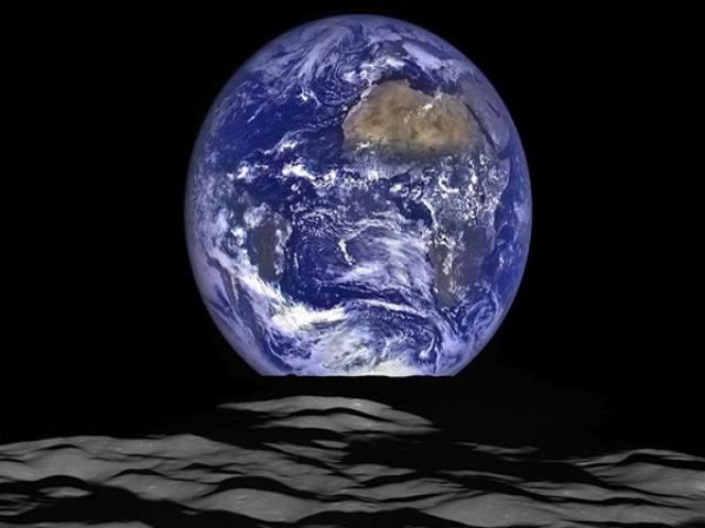 انتشار تصاویر بسیار زیبا از طلوع زمین در سطح ماه توسط ناسا
