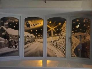 نقاشی های تام بیکر روی شیشه منازل