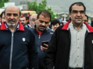 وزیر ورزش و رئیس سازمان لیگ در راهپیمایی 22 بهمن