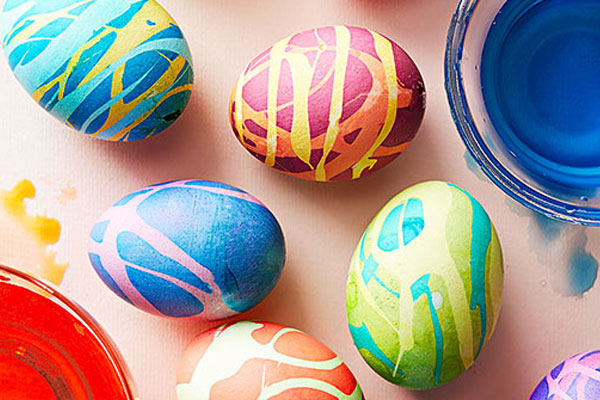 New decorated Easter eggs