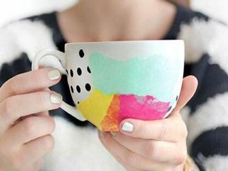 خلاقیت روی لیوان