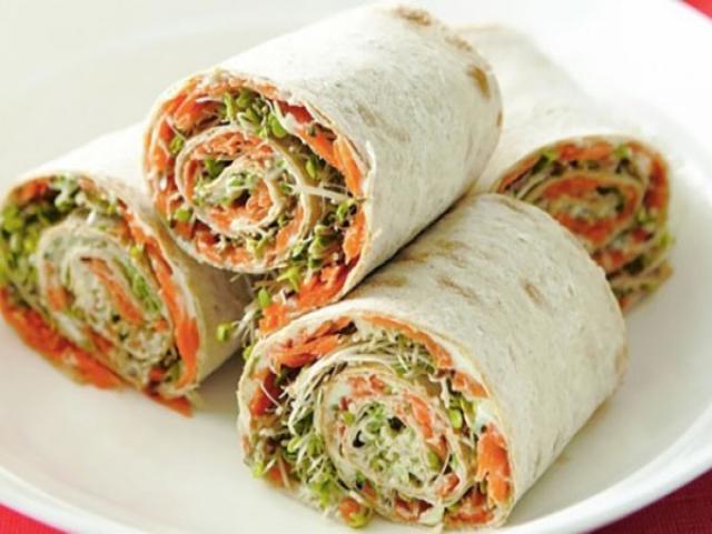 ساندویچ مارپیچ سبزیجات