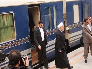 رئیس جمهور با قطار عازم سمنان شد