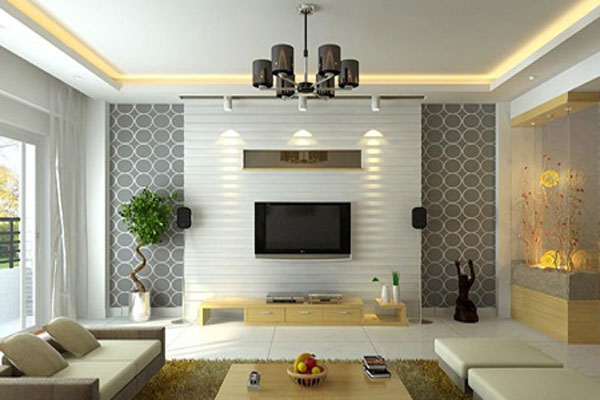 Decoration wall behind the LCD (9)