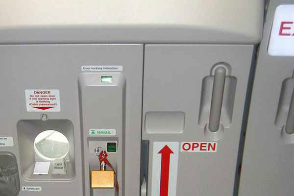 Passengers mistake led to the opening of an emergency chute was aircraft
