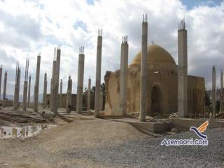 تخریب کامل بنای ایلخانی امامزاده ساره مریم