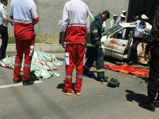 مرگ دلخراش 3 دختر دانشجو در مقابل دانشگاه آزاد قزوین