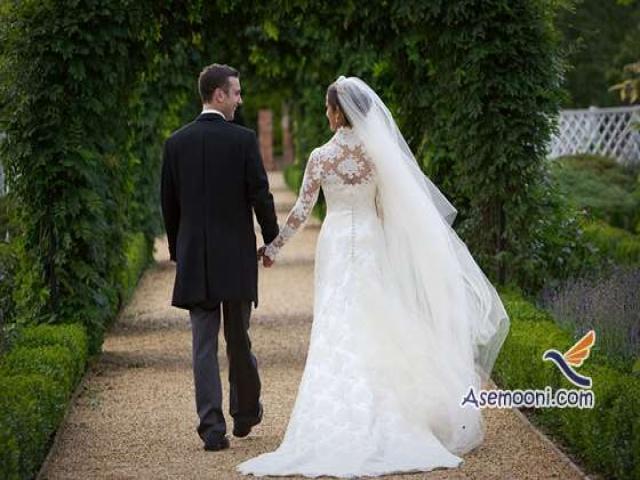 بهترین ژست عکس عروس و داماد