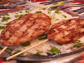 کباب مرغ آسیایی