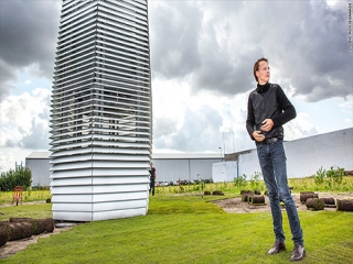 بزرگ ترین دستگاه تصفیه هوا که آلاینده ها را به سنگ های زینتی تبدیل می کند