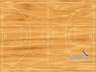 ابعاد زمین بسکتبال
