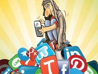 کاریکاتورهای اعتیاد به فضای مجازی