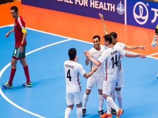 پیروزی تیم ملی فوتسال ایران بر مراکش/ نبرد با آذربایجان برای صعود