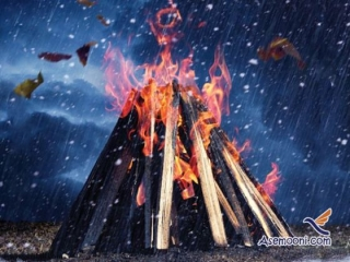 درست کردن آتش در باد، باران و برف