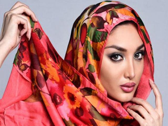 10 مدل زیبای بستن شال و روسری