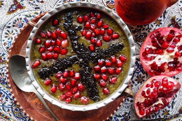 آش انار-pomegranate soup