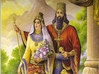 زندگی عاشقانه کوروش و همسرش کاساندان