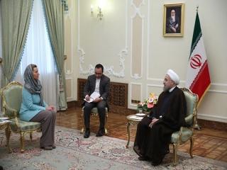 روحانی: پایداری برجام در گرو عمل طرف مقابل به تعهدات است/ موگرینی: اتحادیه اروپا مصمم به گسترش همکاریهای اقتصادی با ایران است